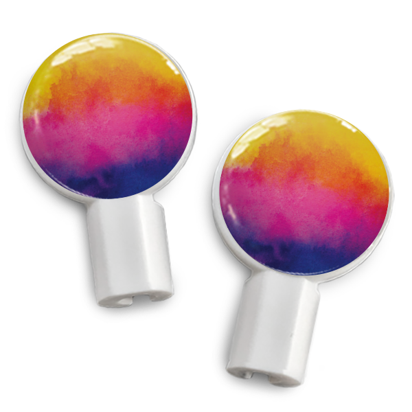 dekaSlides: Pair of Apple Earbud Covers - Watercolor Sunset