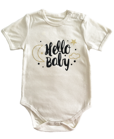 Organic Cotton 'Hello Baby' Bodysuit