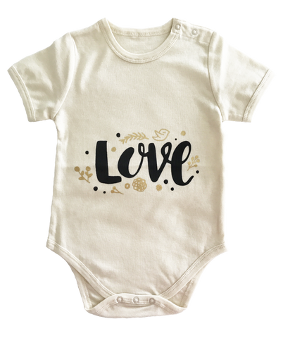 Organic Cotton 'Love' Bodysuit