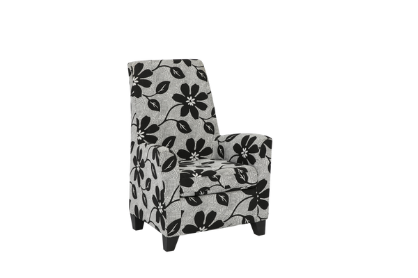 Balvano Chair Black and White Flower