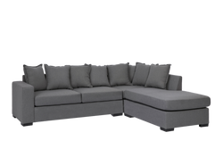 Bella 3 Seater with Chaise Grey