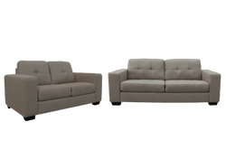 Castella 3 Seater plus 2 Seater Lounge Suite Nutmeg