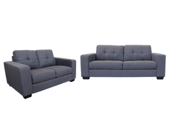 Castella 3 Seater plus 2 Seater Lounge Suite Charcoal