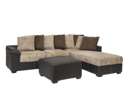 Diva 3 Seater with Chaise Brown