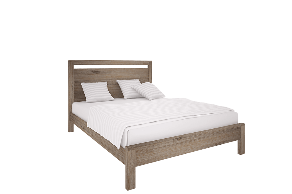 Madrid slat bed queen furniture zone for Furniture zone beds