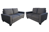 Roman 2 Seater plus 2.5 Seater Lounge Suite Granite