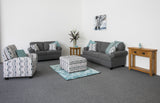 Sienna 3 Seater plus 2 Seater Lounge Suite Grey