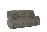 Treviso 3 Seater and 2 Recliners Lounge Suite Grey