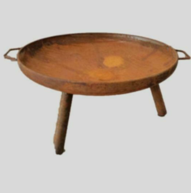 Rounded Steel Fire Bowl With Legs