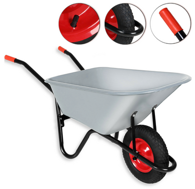 Wheelbarrow Metal Heavy Duty 120L