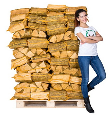 Nets of Hardwood Logs - Seasoned Logs Surrey