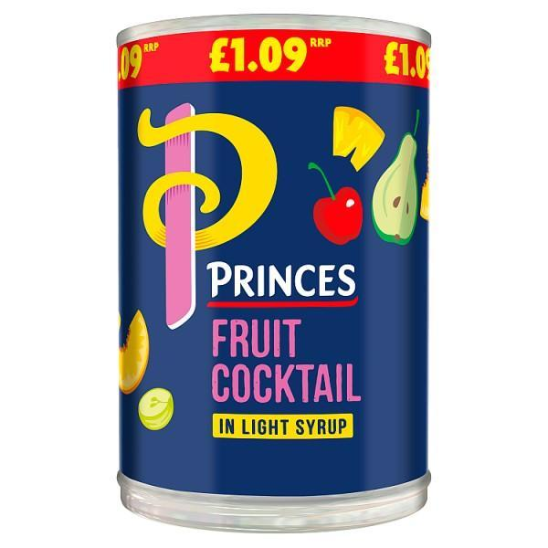 Princes Fruit Cocktail in Light Syrup 410g (Drained Weight 247g) - Seasoned Logs Surrey
