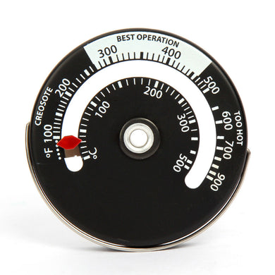 Magnetic Stove Thermometer - Seasoned Logs Surrey