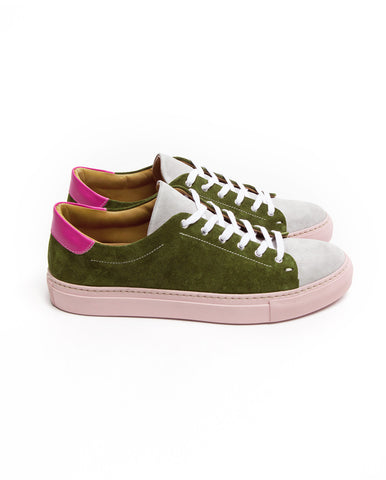 Low top passion fruit leather sneakers