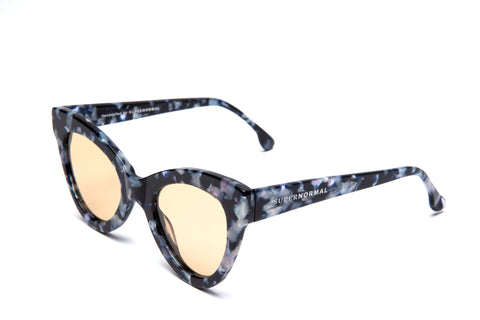 Cat Eye Style Magnetic Blue Marble Supernormal Sunglasses