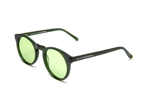 Soft Rounded Sharp Green  Supernormal Sunglasses