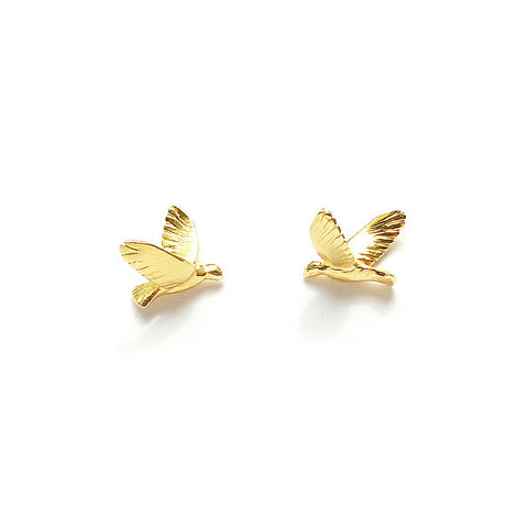 Earrings Gold Birds