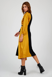 Black And Mustard Dress