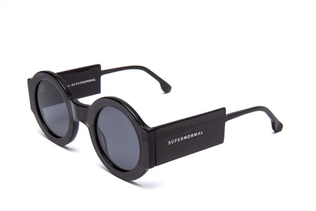 Round Thick Frame Black Supernormal Sunglasses