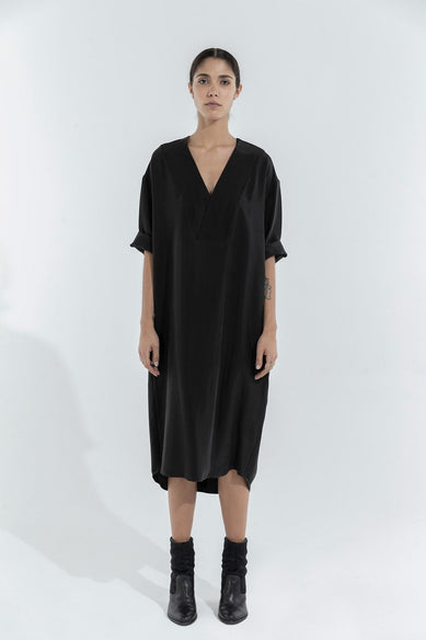 Willy Black Cupro Dress