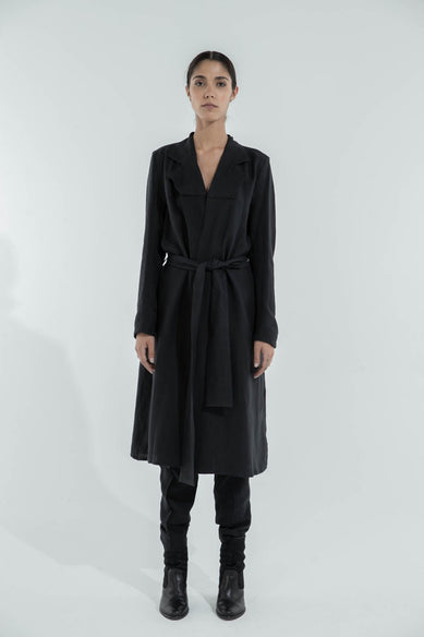 Fake Dress in Black Linen