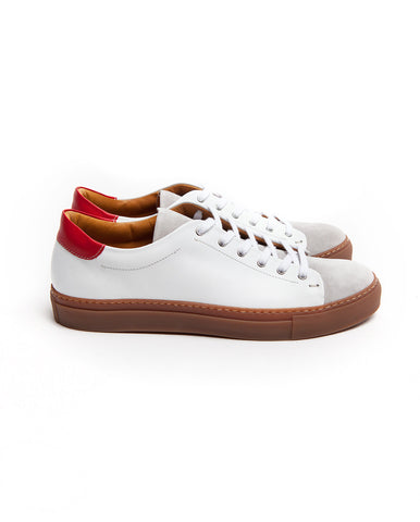 Low top coconut leather sneakers