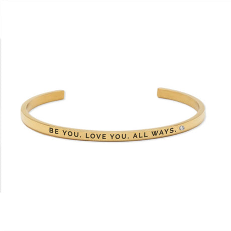 BE YOU. LOVE YOU. ALL WAYS. ALWAYS. Bracelet Gold