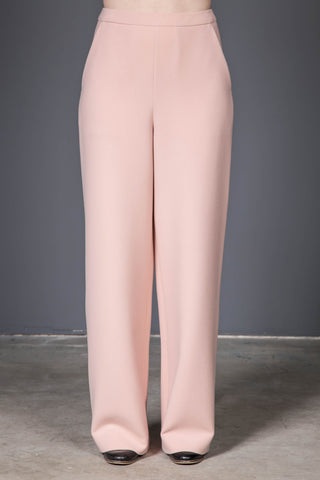 Pink wool trousers