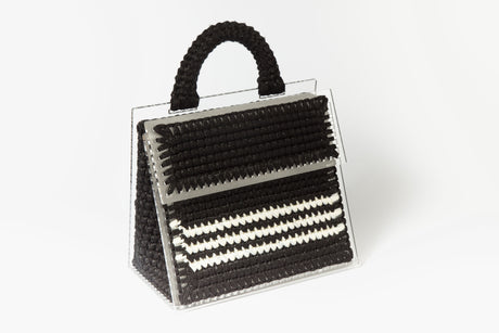 Black and White Copacabana Purse