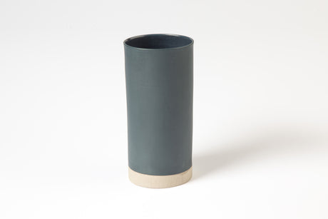 Dark blue porcelain tall vase