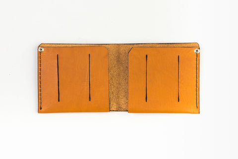 Leather wallet for bills