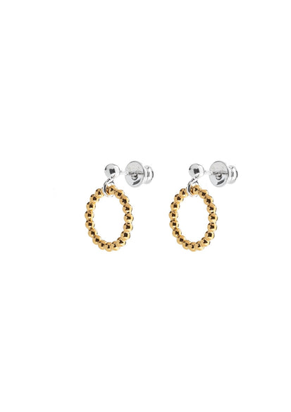 Champagne Circle Earrings