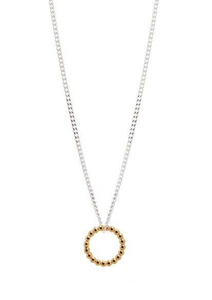Champagne Necklace Silver and Gold Plated