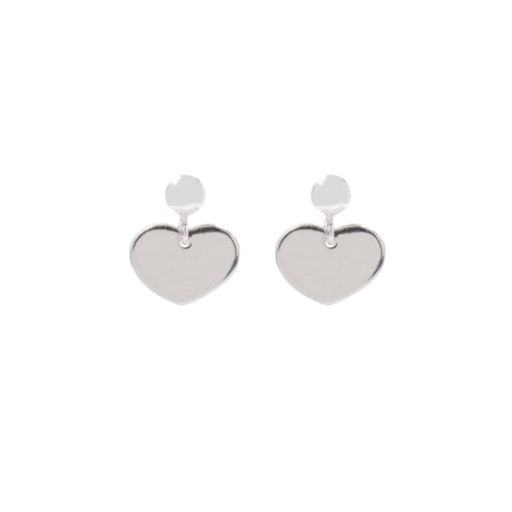 Coco Hearts Silver Earrings