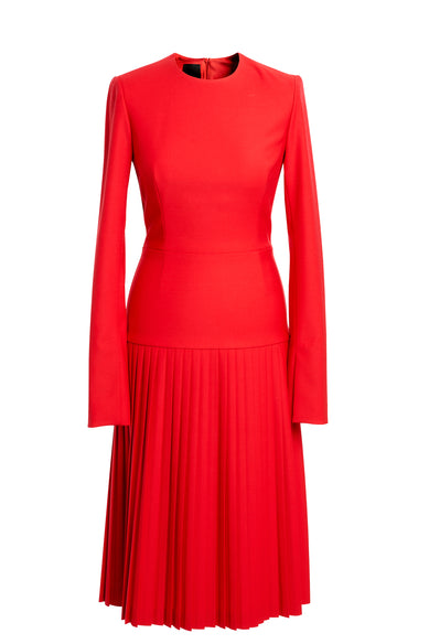 Red Pleats Dress