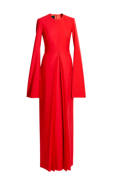 Red Long Wool Dress