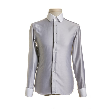 DAFOE Gray Modern Mens Shirt