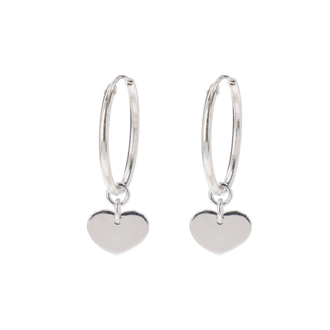 Circle Of Coco Hearts Silver Earrings