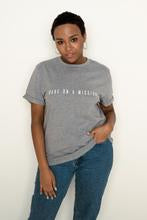 BABE ON A MISSION Grey T-Shirt