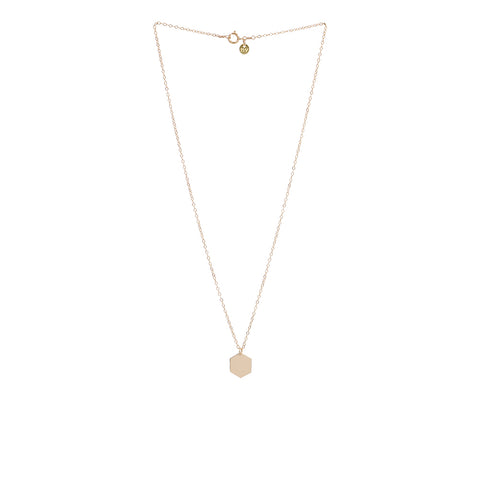 Hexagon Necklace Gold