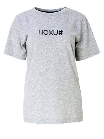 Grey Cotton Jersey T-Shirt With Print