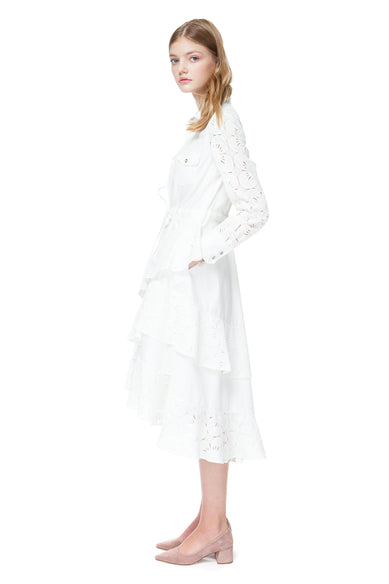Cecilia Denim Dress In White