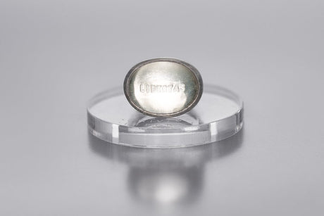 "Silver ring with rock crystal ""Freedom"""