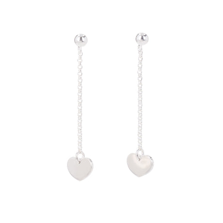 Longing For Coco Silver Hearts Earrings