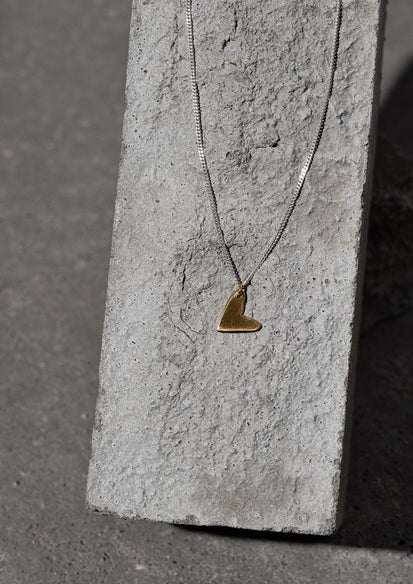 Love Necklace Silver and Gold Plated