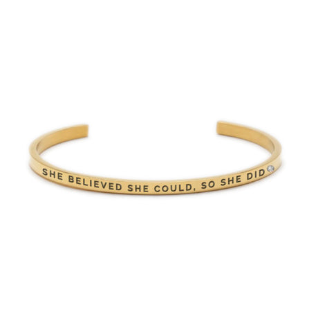 SHE BELIEVED SHE COULD, SO SHE DID Bracelet Gold