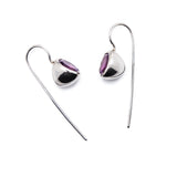 Sputnik Minimal Sterling Silver earrings with Amethyst