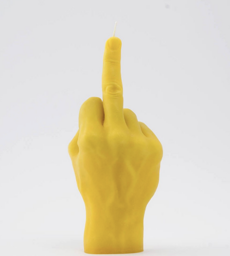 FCUK YOU yellow