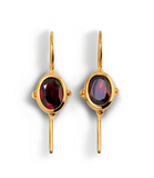 Sputnik earrings gold plated