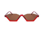 Skinny Style Red Supernormal Sunglasses